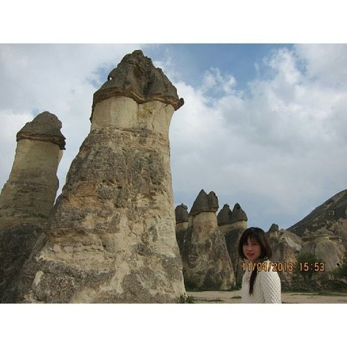 Pasabaglari Cappadocia Turkey 20130411 Stone Pose Exotic