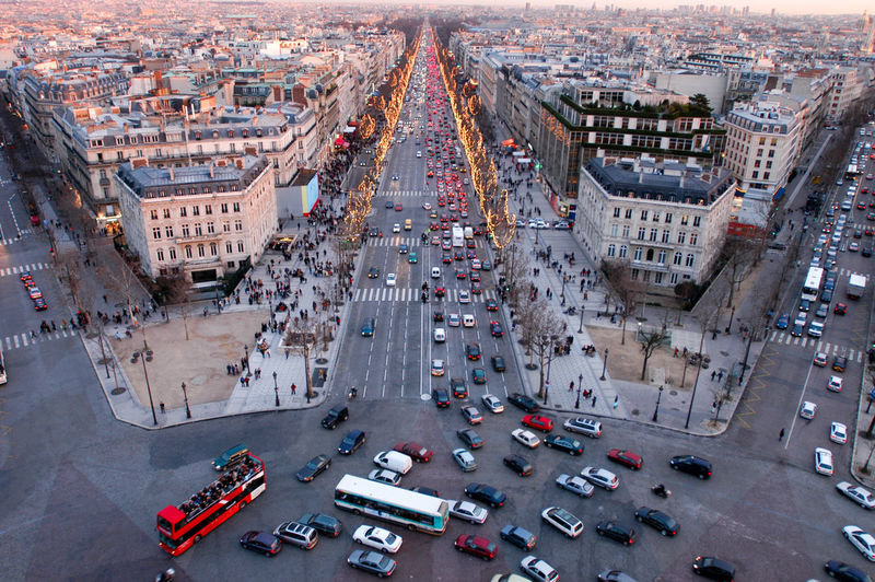 Sunset at Champ Elysee on Paris, France Paris France🇫🇷 Champ Elysee Transportation Mode Of Transportation High Angle View Motor Vehicle Building Exterior Architecture City Car Built Structure Traffic Land Vehicle Road Aerial View Cityscape Street Building City Life City Street Day Travel Outdoors No People