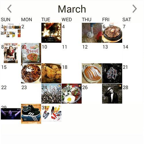 4월 1일이네요 만우절이라 다들 sns에 재미있는 거짓말을 하시던데 전 뭐 없네요 ㅋㅋ 일상 3월끝 4월 Instacalendar