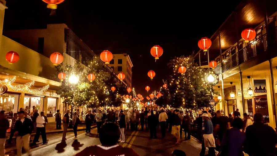 Little china in Pensacola Illuminated Celebration Outdoors Crowd Paper Lanterns Beautiful Nightphotography
