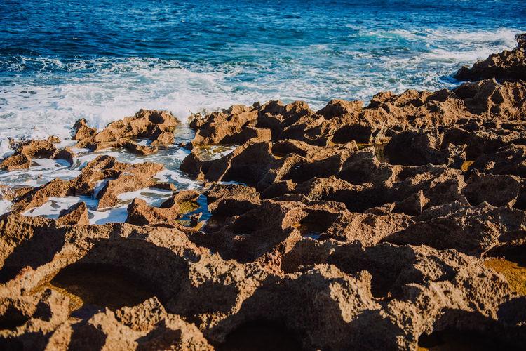 Scenic view of sea shore at beach