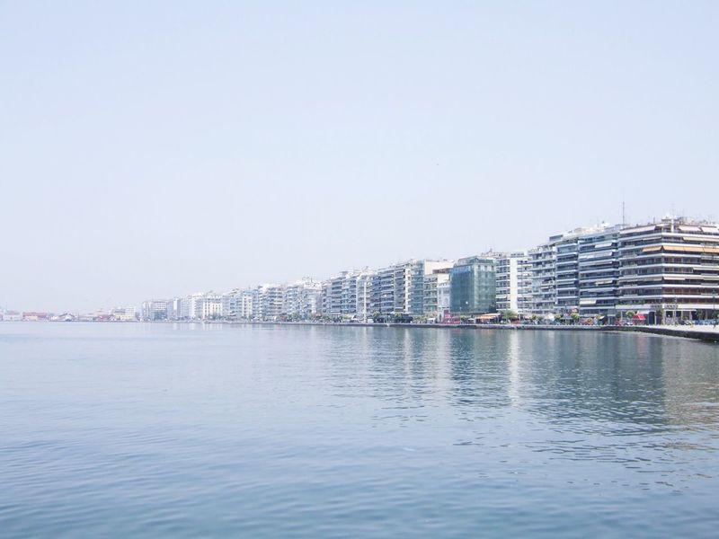 Sea Sea And Sky Sea View Architecture Seascape Sea_collection Water_collection Water Reflections Water Architecture_collection Greece Thessaloniki Thessaloniki Greece Thessaloniki Thessaloniki Port  Buildings Blue Wave