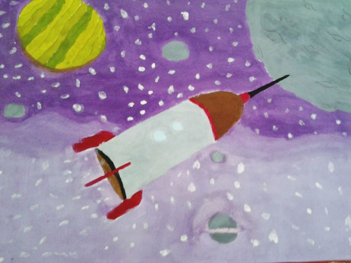 Space picture .I draw it !!! Reading