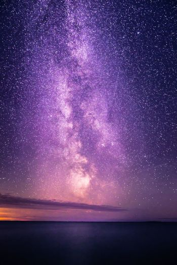 Amazing view to the Milky Way Sky Sea Horizon Over Water Beauty In Nature Night Tranquility Tranquil Scene Star - Space Nature Purple No People Cloud - Sky Astronomy Milky Way Water Landscape Scenics Nature_collection Freshness Hello World EyeEm Best Shots Illuminated Outdoors Explore Space Galaxy Nature Beauty In Nature Exploring Check This Out EyeEm Nature Lover Photography Reflection Taking Photos Tranquility Hanging Out Travel Scenery
