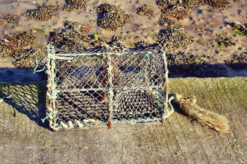 Day Outdoors Close-up Beach Scenics Old Fishing Boat Lost In The Landscape Fishing Industry Water Fishing Cage fishing net EyeEmNewHere