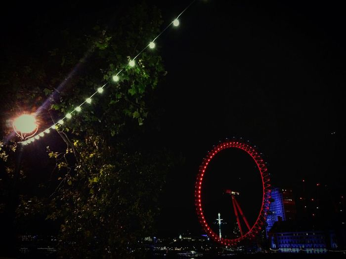 London Nightview LondonEye Travel United Kingdom England Awesome Red Tree Lumière Parisienne First Eyeem Photo IPhoneography