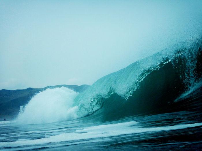 Playa Las Gramas. Motion Nature Power In Nature Scenics Sea Water Waterfront Wave