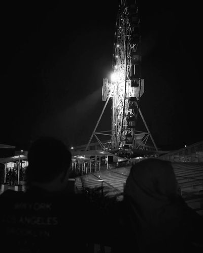 Ferrish Wheel Night Nightlife INDONESIA Huawei P9 Leica Blackandwhite Justiseng Night Arts Culture And Entertainment Outdoors Popular Music Concert Adults Only City