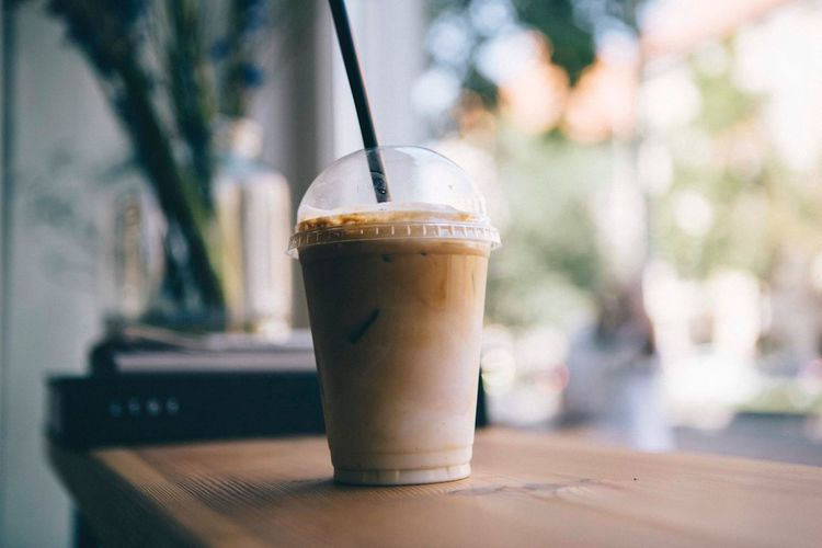 EyeEm Selects Food And Drink Drink Refreshment Drinking Straw Coffee Straw Coffee - Drink Milk Latte Dairy Product Milkshake Iced Coffee Freshness