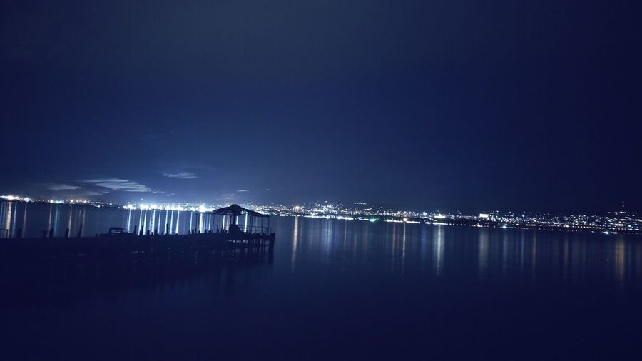 Night Reflection Sea No People Outdoors Sky Water City Eye4photography  EyeEm Best Shots EyeEm Gallery Sea And Sky Seascape Horizon Over Water Sky Is The Limit ! Freshness Nightphotography Night Lights Nightshot Night Photography Cityscape City City View  City Lights Sea_collection