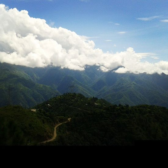 As if clouds are in fight wd hills. ...Garhwal Uttarakhand Chamba Newtehri . ...nature hills