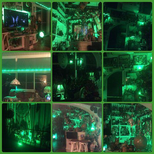 ls so green tonight, noche verde, green evening, grønn kveld Verde Phillipshue Led Lights  Home
