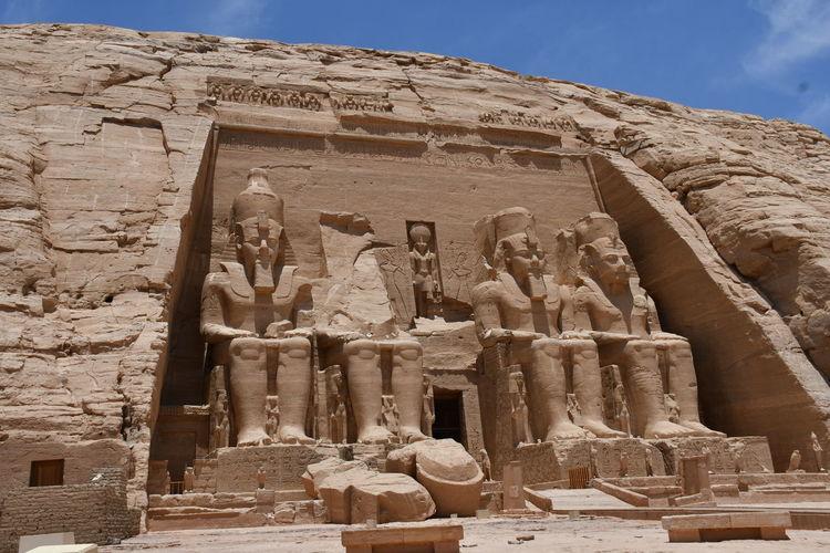 Statue of historic temple