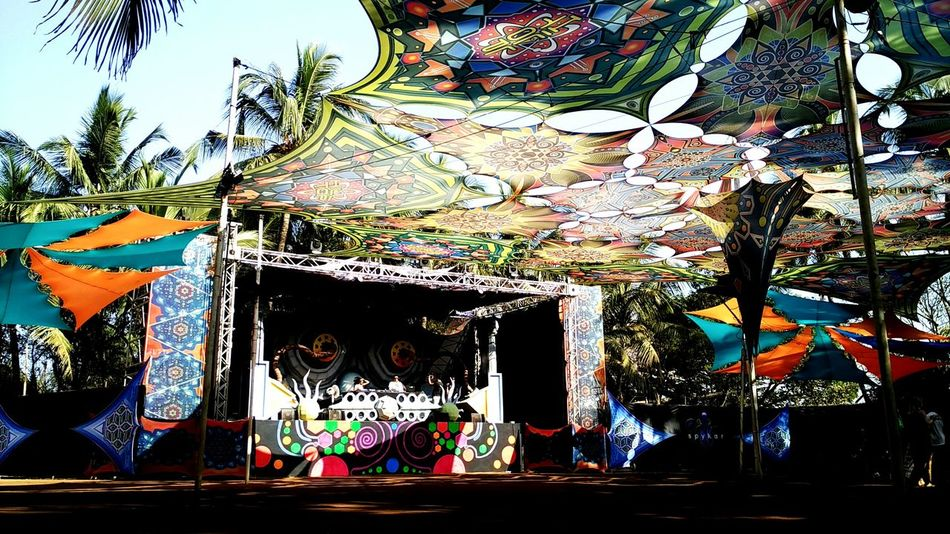 Hilltop Festival at Goa Colors Of Carnival Psytrance Festival Valentinesday Color Setup Decoration Artdeco Artdesign  Psycadelic Colourful Dancefloor Festival EyeEm Best Shots EyeEm Gallery EyeEm Nature Lover Original Experiences Minimalist Architecture