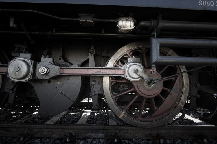 Locomotion Close-up Day Land Vehicle Locomotive Mode Of Transport No People Old-fashioned Outdoors Public Transportation Rail Transportation Railroad Track Steam Train Train - Vehicle Transportation Wheel