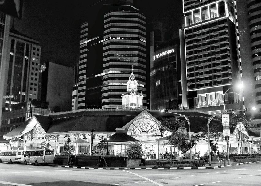 "The Telok Ayer Market, now known as Lau Pa Sat (老巴剎 - which in Malay means ""old market"" - was built in 1894. It now sits pretty amongst the office buildings in the central business district. Architecture Architecture_bw Architecture_collection Old Architecture Old Building  Old And New Old And New Architecture Blackandwhite Black And White Black & White Black&white Open Edit EyeEm Best Shots EyeEm Gallery Urban Geometry Urban Landscape Urbanphotography Streetphotography Streetphoto_bw Street Photography Nightphotography Night Photography Cities At Night The Architect - 2016 EyeEm Awards First Eyeem Photo"