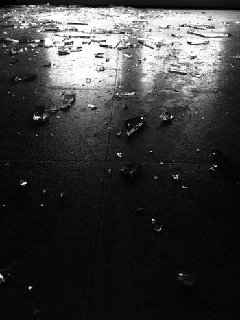 Broken monochrome photography Monochrome Broken Glass Broken Glasses Glass - Material Glass Water Wet Nature Rain No People Drop Sea High Angle View Full Frame Outdoors Beach Reflection Land Day Beauty In Nature Tranquility Backgrounds Rainy Season RainDrop