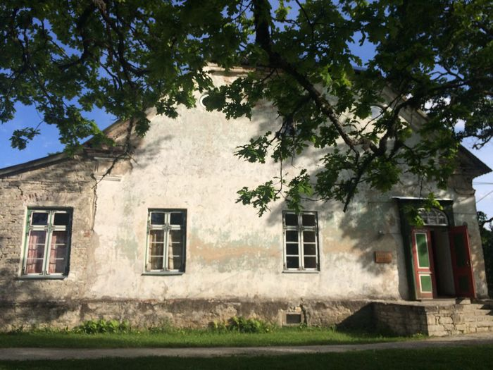 Manor House Oak Tree Old Buildings Estonia Countryside Architecture Country Life Põhjaka Mõis