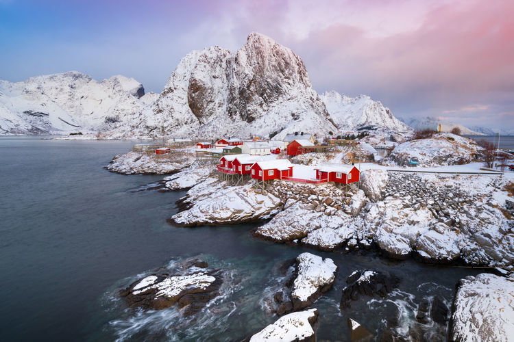 Hamnoy Lofoten Islands, Nordland Lofoten Lofoten Islands Lofoten Norway Lofoten Landscape Winter Snow Beauty In Nature Red House Norway Travel Photography Sunset #sun #clouds #skylovers #sky #nature #beautifulinnature #naturalbeauty #photography #landscape Reine In Lofoten Reinebringen Hamnøy Norwegian Norway Nature Arctic Mountain Nature Cold Temperature Nordland