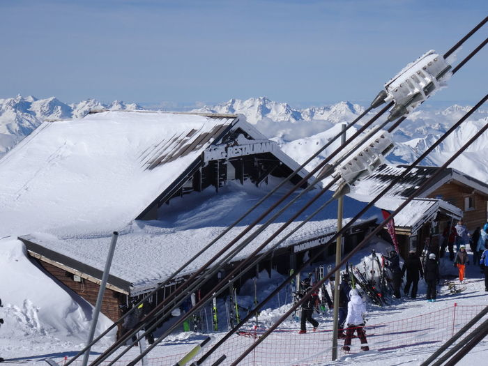 Crowded Meribel Le Mont Blanc Skiing France🇫🇷 Travel Destinations Les3vallées ValThorens  Engineering Winter Scenics Business Finance And Industry Mountain Snowcapped Mountain Outdoors Building Exterior Architecture Polar Climate Snowing Nature