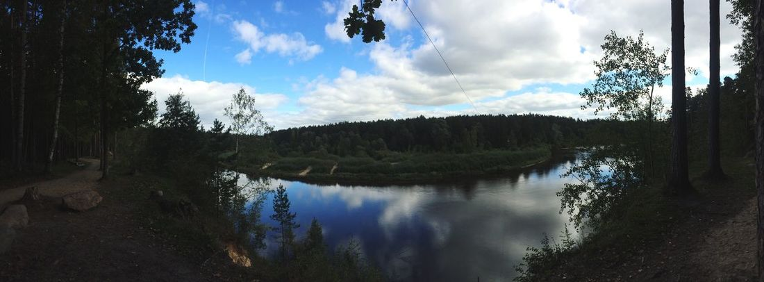 Valmiera Latvia Reflection Water River Sky Beauty In Nature Majestic Calm Nature
