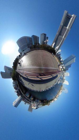 Theta デビューしました(笑) Theta360 City View  Cityscapes City Life Blue Sky Skyscraper Landscape The Purist (no Edit, No Filter) EyeEm Best Shots - Landscape EyeEm Best Shots Snapshot Taking Photos お写ん歩 Walking Around