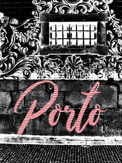 Porto Portugal 🇵🇹 Architecture Art And Craft Building Exterior Built Structure Capital Letter Close-up Communication Creativity Day Design Desıgn Floral Pattern Graffiti Low Angle View Message No People Outdoors Pattern Text Texture And Background Wall - Building Feature Western Script Window