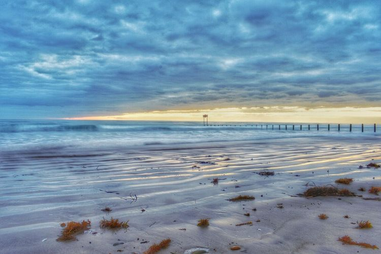 Nature Sky Scenics Beauty In Nature Tranquil Scene Tranquility Sea Cloud - Sky Cold Temperature Water Sunset Horizon Over Water Outdoors Winter No People Snow Beach Day