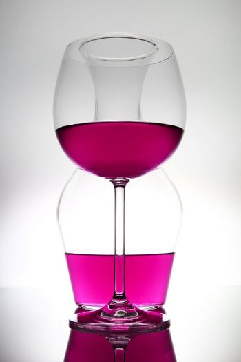 lines Abstract Photography EyeEm Gallery Pure Abstract Abstract Art Close-up Drink Drinking Glass Food And Drink Glass Glass - Material Household Equipment Liquid Art Minimalism No People Pattern Pink Color Red Wine Refreshment Still Life Studio Shot Transparent White Background Wine Wineglass