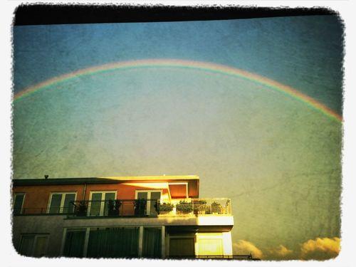 Sky Rainbow #sunset #sun #clouds #skylovers #sky #nature #beautifulinnature #naturalbeauty #photography #landscape