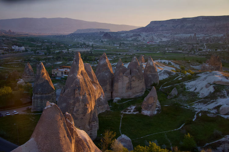 Cappadocia Landscape Environment Mountain Nature Beauty In Nature Tranquil Scene Sky Rock Scenics - Nature Tranquility Non-urban Scene Travel Destinations Rock - Object Solid Outdoors Formation Mountain Range Rock Formation Goreme Open Air Museum Balloons Hot Air Ballooning