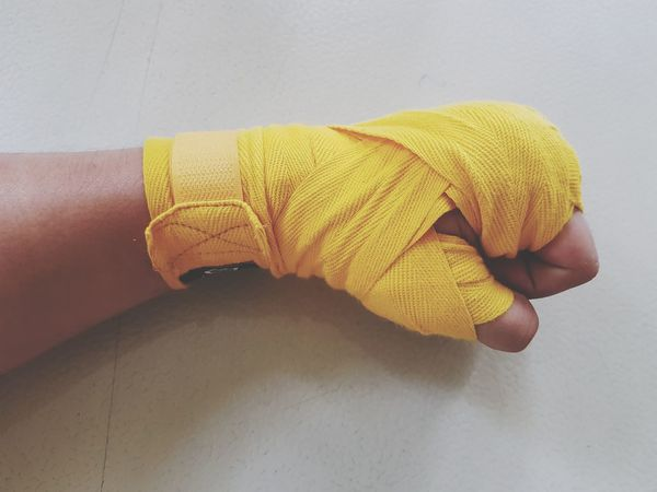 Human Body Part Human Hand One Person Handwrap Hand Wraps Boxing Sparring Session Sparring