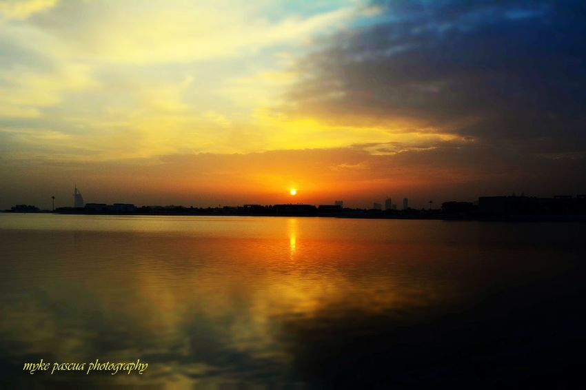 Replication EyeEm Nature Lover Sunset Sky Water Cloud - Sky Scenics - Nature Beauty In Nature Tranquility Reflection Nature Waterfront Orange Color No People