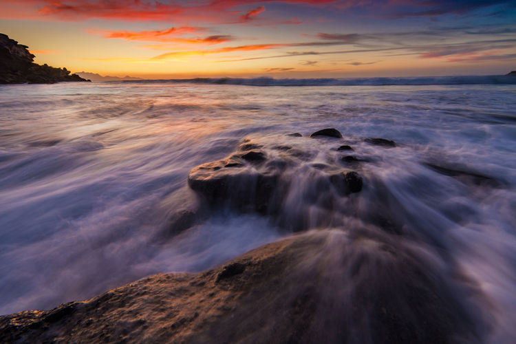 Filter Nikon Rock Beauty In Nature Day Horizon Over Water Long Exposure Motion Nature No People Ocean Outdoors Rock - Object Rocks And Water Scenics Sea Sky Sunset Tranquil Scene Tranquility Water Wave