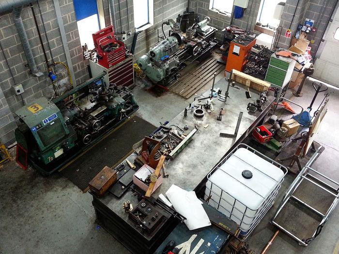Workshop Building Indoors  Modern No People Repairs Workshop Machanical Machinery Machine Part Machanics Equipment
