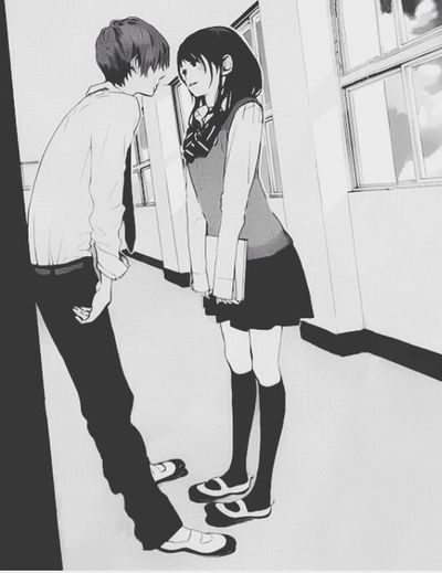 Shoujo Shojo Couple Anime Manga Love Monochrome Otaku