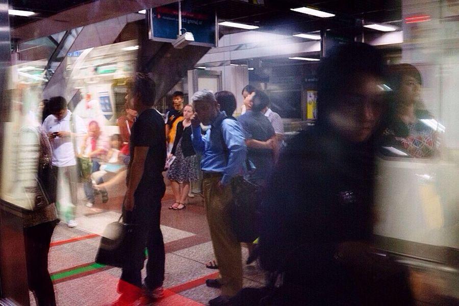 My Daily Commute Streetphotography Reflections Wirokesuma Subway