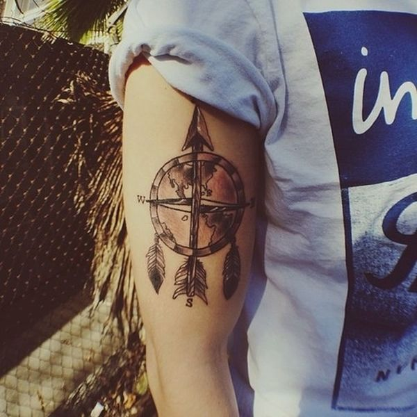 I want this tattoo on my left forearm Tattoo Jc Caylen Compass Dream Catcher