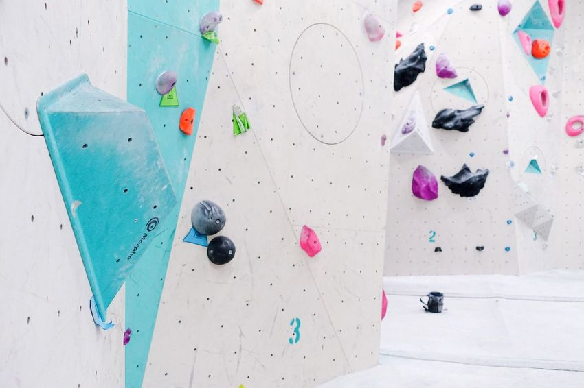 Rocks... Lines And Shapes Structure Graphical Geometric Shape Climbing Wall Multi Colored Challenge Climbing Sport Indoors  Day Rock Climbing