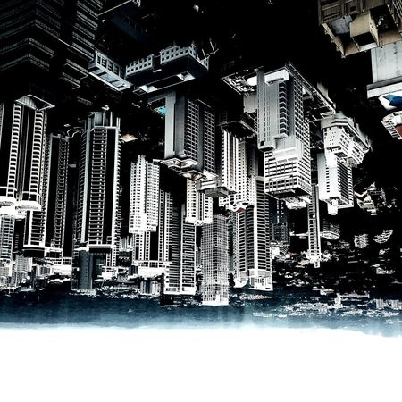 Upside-down world Singapore Buildings Ionsky Exterior Lines