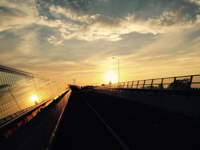 Sunset on bridge Jan Klupper First Eyeem Photo