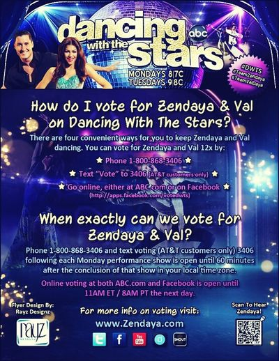 Zendaya Val  Hey Guys Plzz If Your A Zswagger Plzz Vote For Zendaya And Val Ok N Share The Pic Thnx!! #DWTS Danceing With The Stars