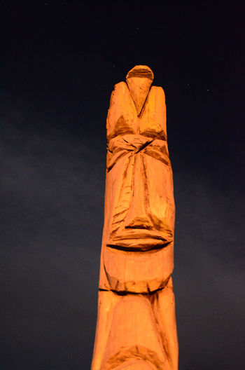Festival Firelight Night Sky Totem Pole