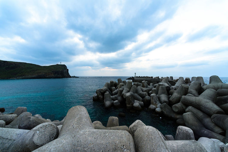 yonaguni Island Beach Coastline Exploring Horizon Over Water Ocean Outdoors Physical Geography Rock Rock - Object Scenics Sea Shore Sky Stone Tranquil Scene Tranquility Vacation Vacations Voyage Water