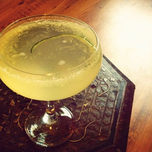 Gin cocktail - my very own cucumber and elderflower liqueur concoction! - just because I can... Slowly easing into Sunday evening in style..!