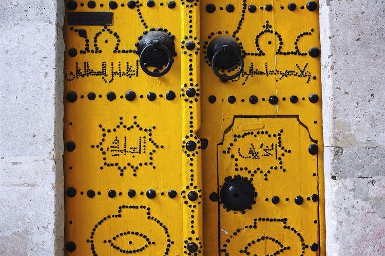 Yellow door. Tunis Door Yellow