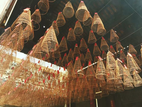 Tradition HongKong China Insense Low Angle View Hanging Lighting Equipment No People Cultures Indoors  Large Group Of Objects EyeEmNewHere