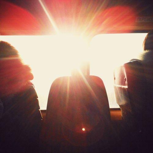 солнечныйудар омск сибирь маршрутка февраль зима Морозисолнце Sunstroke Omsk Siberia Sun Frostandsun Fabruary