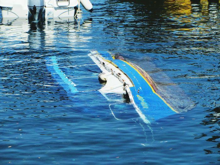 sinking yacht Nature Week On Eyeem Still Life Sinkingboat Sea View Fresh On Eyeem
