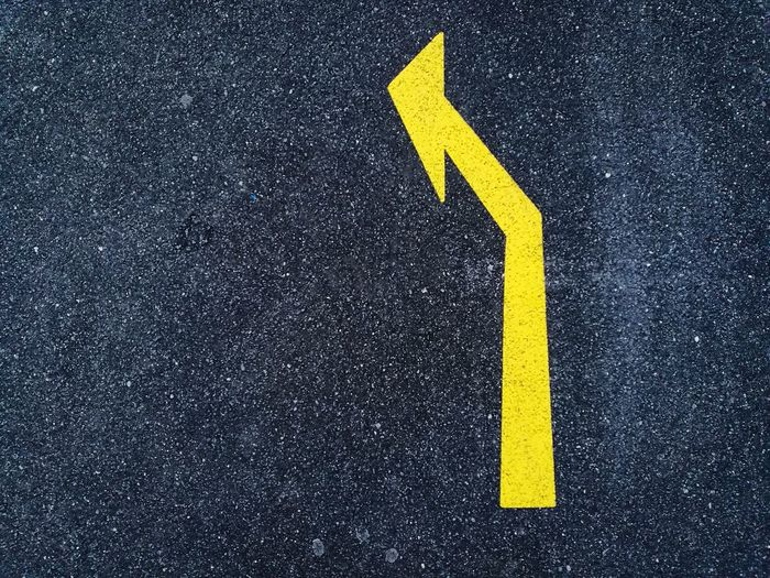 Arrow Arrow Symbol Arrow Sign Go Left Direction Directional Sign Yellow Arrow Street Sign Asphalt Abstract Backgrounds Turn Left Black And Yellow  Guidance Streetphotography Texture Road Road Marking City City Street Street Success Success Is My Mission